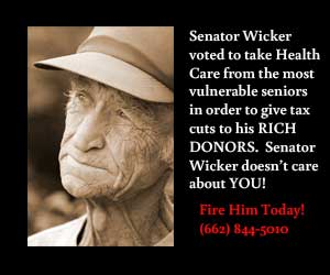 Senator Wicker voted to take health care away from the most vulerable elderly just to give big donors tax breaks. Call Senator Wicker and FIRE HIM TODAY!